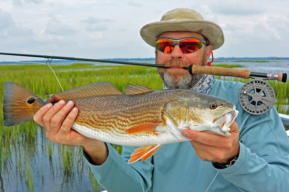 1st Tailing Redfish for Cary in the Flooded Grass Flats