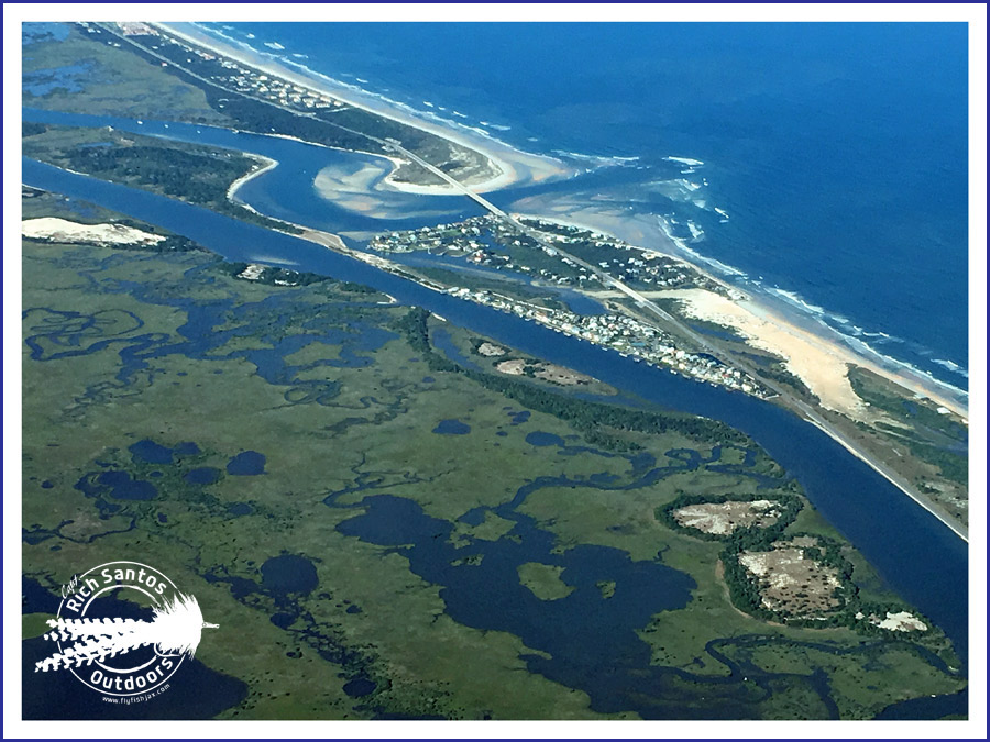 Aerial photos flyfish jacksonville for Matanzas inlet fishing